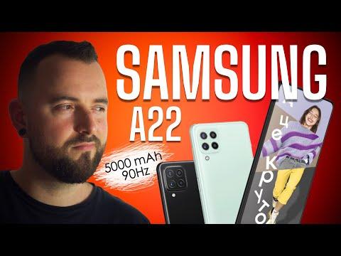 Обзор Samsung Galaxy A22. 90Hz   5000 mAh