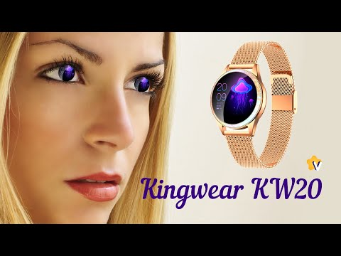 Женские смарт часы Kingwear KW20 распаковка